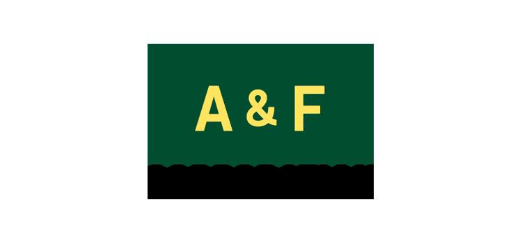 スポンサー A&F CORPORATIONのロゴ